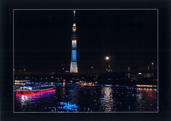 隅田川に東京ホタル